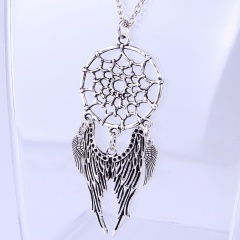 Fashion Silver Wing Hollow Pendant Necklace Chain Jewelry Gifts Wing