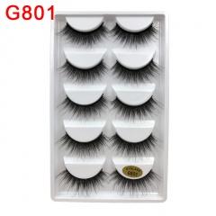 5 Paris Makeup Handmade Natural Thick False Eyelashes Long Eye Lashes Extension G801