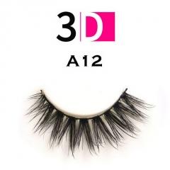 3 Pairs Makeup Handmade Natural Thick False Eyelashes Long Eye Lashes Extension A12/3Pairs