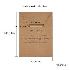 Women Charm Heart Pendant Necklace Gold Clavicle Chain Choker Fashion Jewelry Gift Balance(Bar)