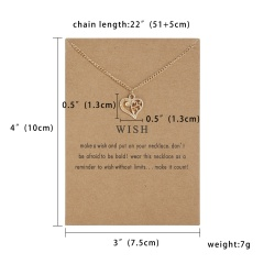Simple Sun Leaf Wing Charms Pendant Chain Necklace Womens Fashion Jewellery Heart