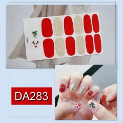 7 Paires/Set Waterproof Christmas Nail Stickers A