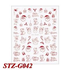 3D Nail Art Christmas English Alphabet Nail Decal B