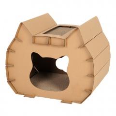 Corrugated Paper Litter Cat Cat Head Scratcher Cat Claw Sharpener Toy Brown