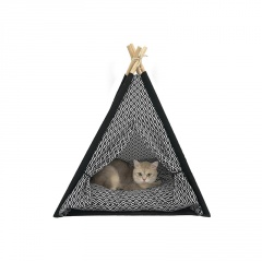Diamond Lattice Kennel Cat Litter Pet Tent Removable And Washable Black