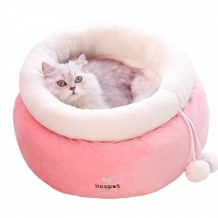 Winter cat litter cat sleeping bag Pink