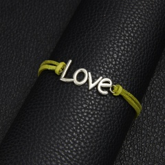 Hand woven paper card bracelet with love BR20Y0053-2
