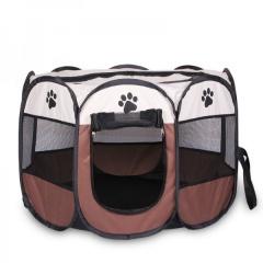 Pet Enclosure Dog Cat Outdoor Tent Coffee
