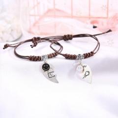2 Pieces/Set Couple Rope Adjustable Bracelets Wholesale style 14