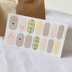 14 Pieces/card Cartoon Hand-painted Frosted Graffiti Waterproof Nail Stickers style 1